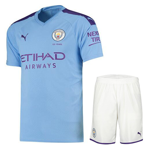 Manchester City 19/20 Home Soccer Kits (Shirt+Shorts)