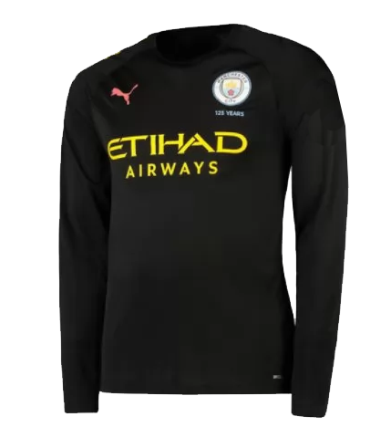 Manchester City 19/20 Away Long Sleeve Soccer Jersey