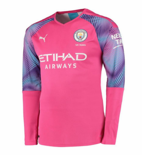 Manchester City 19/20 Goalkeeper Pink Long Sleeve Soccer Jersey