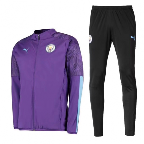Manchester City 19/20 Training Jacket Tracksuits Purple With Pants