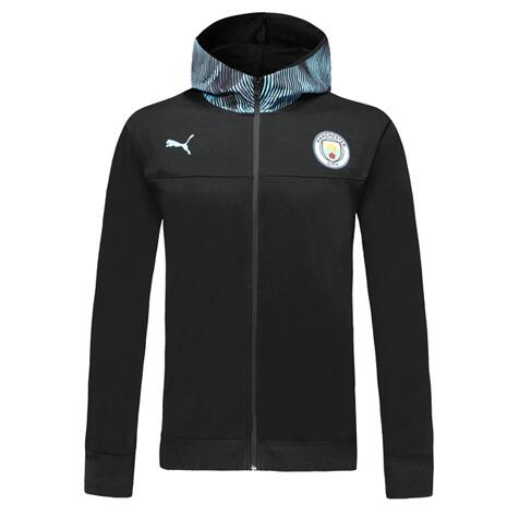 Manchester City 19/20 Hoody Jacket Black