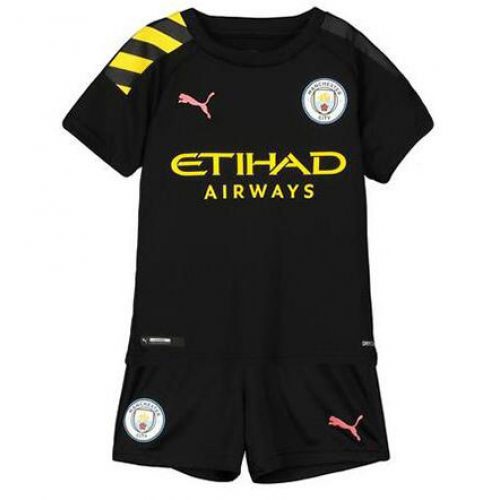 19/20 Kids Manchester City Away Soccer Kits (Shirt+Shorts)