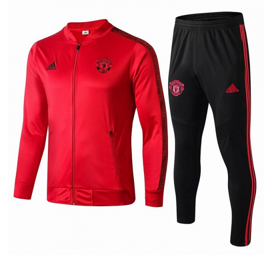 Manchester United 19/20 Tracksuit Red Jacket Top With Pants