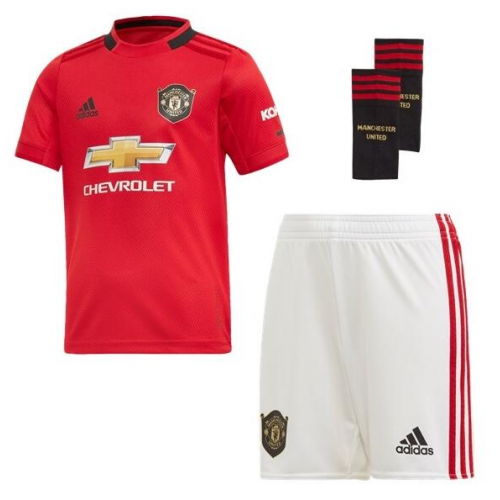 Kids Manchester United 19/20 Home Soccer Sets (Shirt+Shorts+Socks)