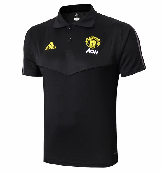 Manchester United 19/20 Polo Jersey Shirt Gold