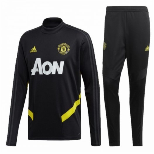 Manchester United 19/20 Tracksuits Sweatshirt Black With Pants