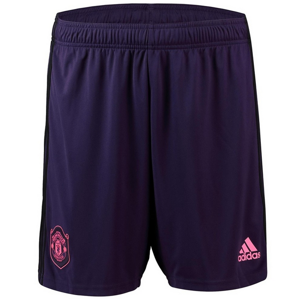 Manchester United 19/20 Goalkeeper Purple Soccer Jersey Shorts
