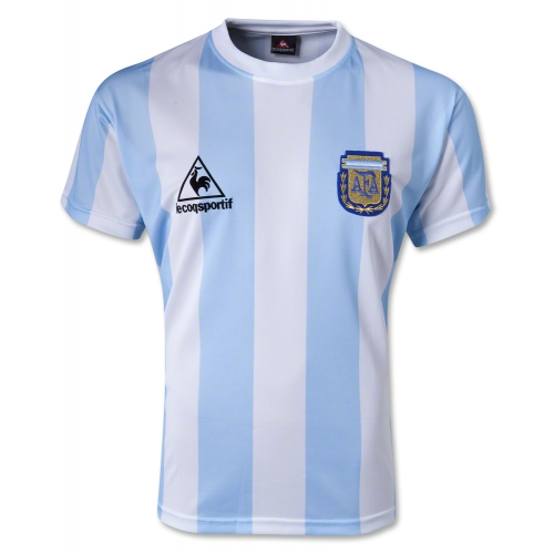 1986 Argentina Retro Home Soccer Jersey