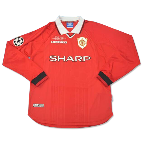 Retro Manchester United 99-00 Home LS Soccer Jersey Shirt