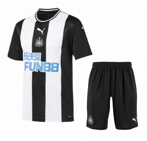 19/20 Kids Newcastle United Home Soccer Kits (Shirt+Shorts)