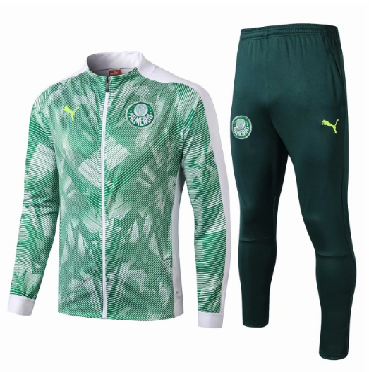 Palmeiras 19/20 Tracksuits Training Jacket Top Green White with Pants