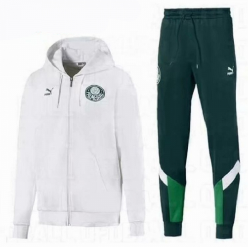 Palmeiras 19/20 Tracksuits Training Hoodie Jacket Top White with Pants