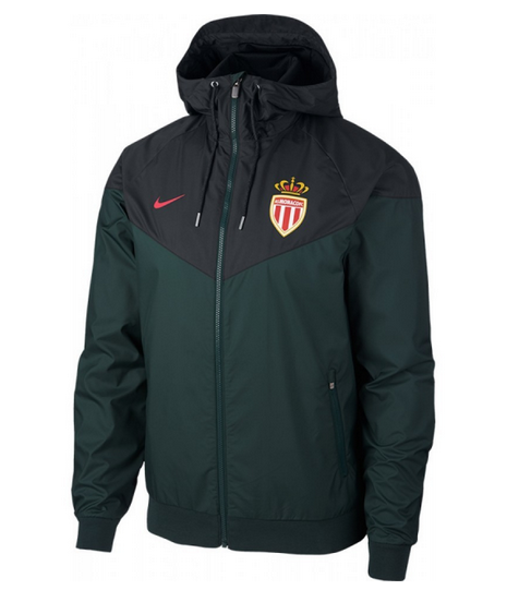 AS Monaco FC 19/20 Windbreaker jacket Green