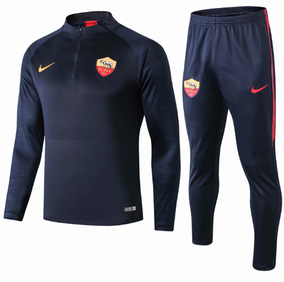 2019-20 Roma Tracksuits Sweatshirt Navy With Pants