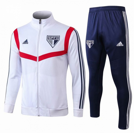 Sao Paulo 19/20 Tracksuits White Training Jacket and Pants