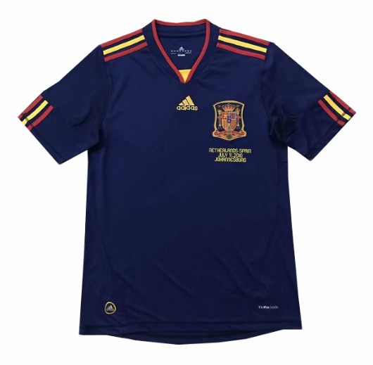 Retro Spain 2010 Away Soccer Jersey