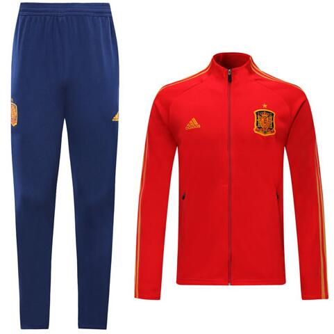 Spain 2020 EURO Tracksuits Training Jacket Red and Pants